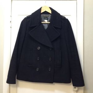 JCrew Wool Peacoat. 6P. Great condition.